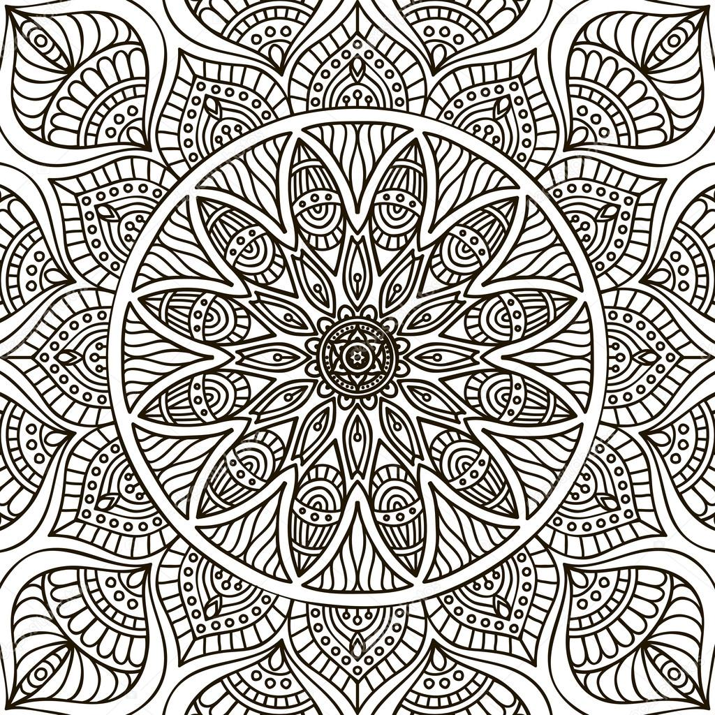 mandala kleurplaat stockvector 169 vikasnezh 90229468