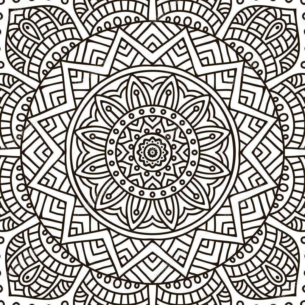 mandala kleurplaat stockvector 169 vikasnezh 90235974