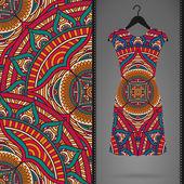 Vektorové šaty s bezešvé pattern