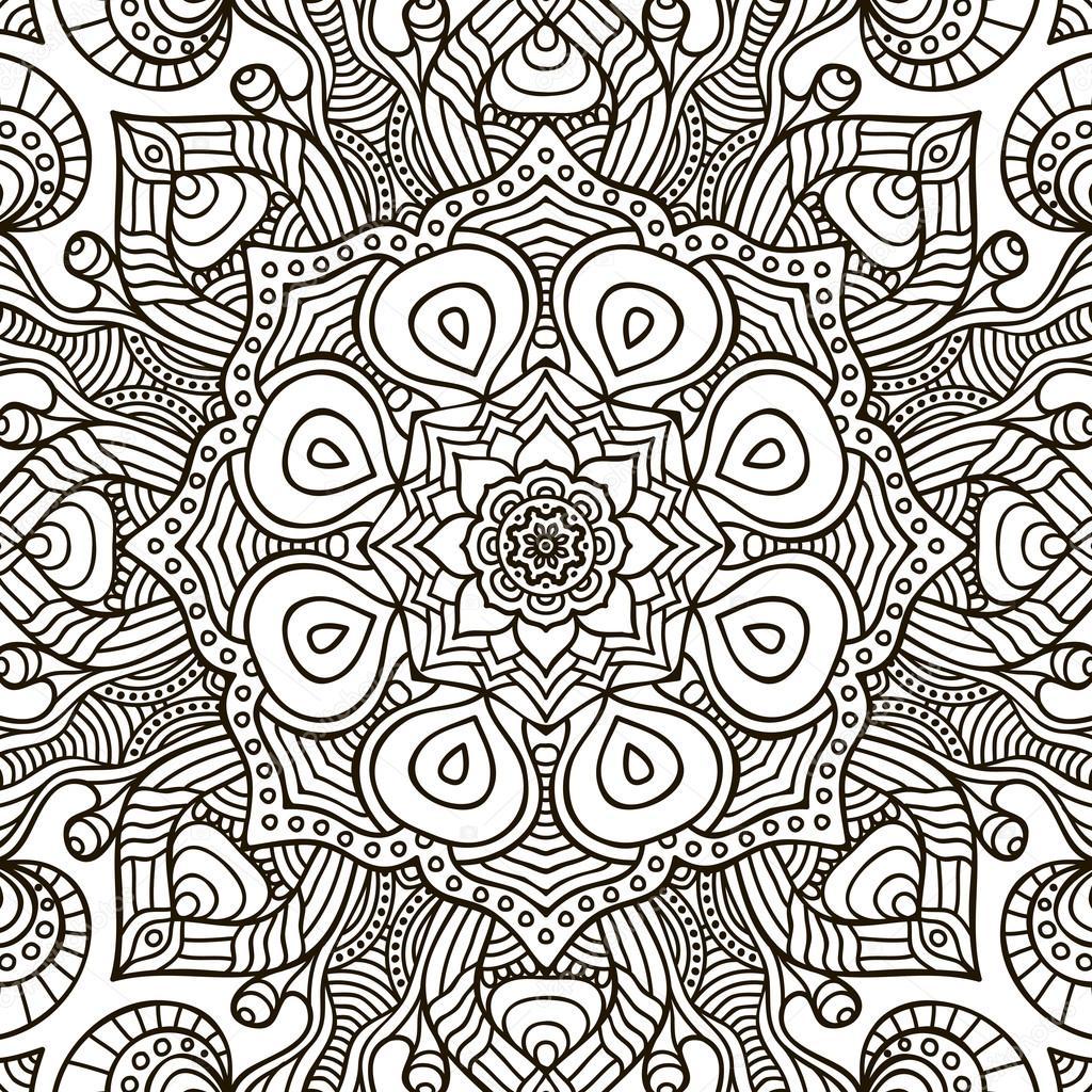 Mandala Boyama Sayfası Stok Vektör Vikasnezh 99756196