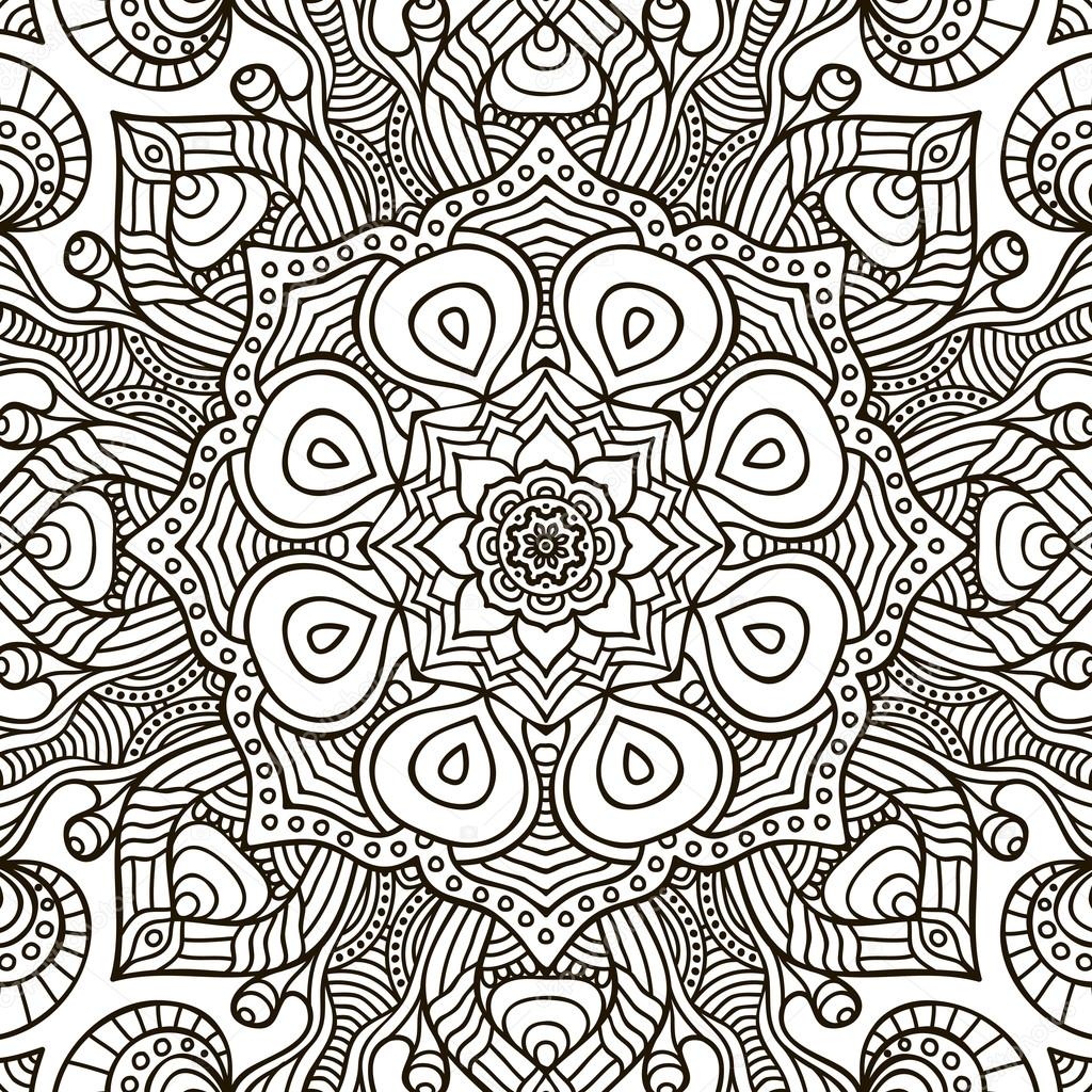 Mandala Boyama Sayfasy Zor Boyama Sayfasi