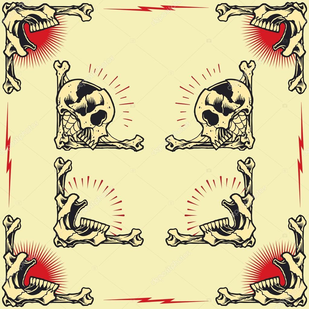 Skull Frames — Stock Vector © 13UG13th #62127197