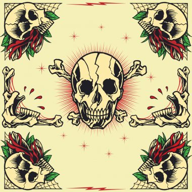 Skull and Rose Frames