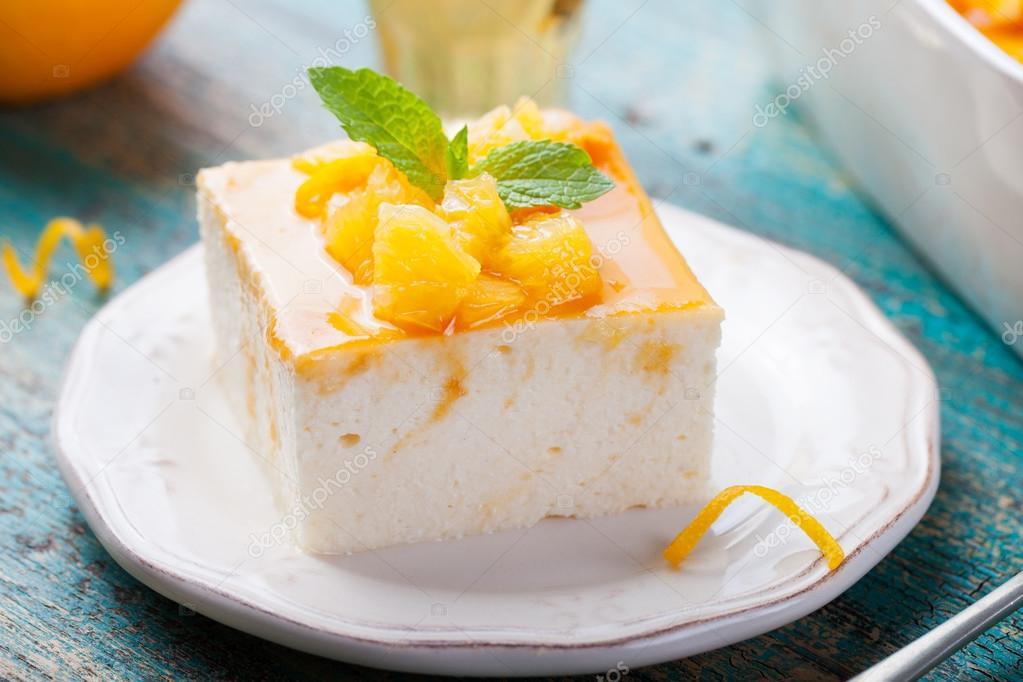 Käsekuchen Quark Pudding Stockfoto Annapustynnikova 101380360