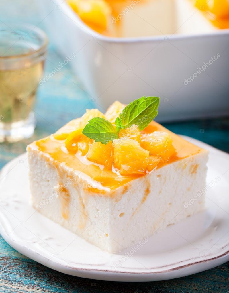 Käsekuchen Quark Pudding Stockfoto Annapustynnikova 101389736