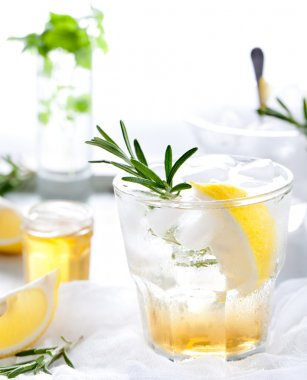 Rosemary fizz cocktail
