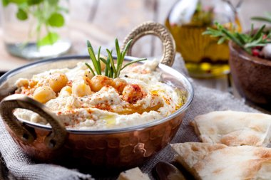 Hummus, chickpea dip,
