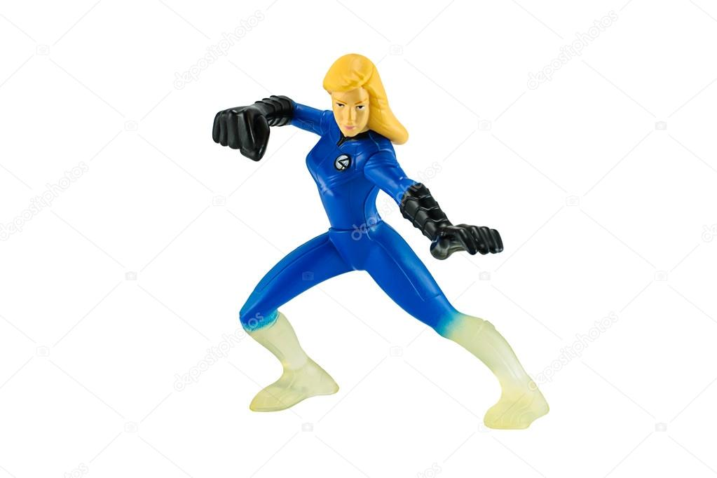 Invisible woman super hero toy character from fantastic four movie.