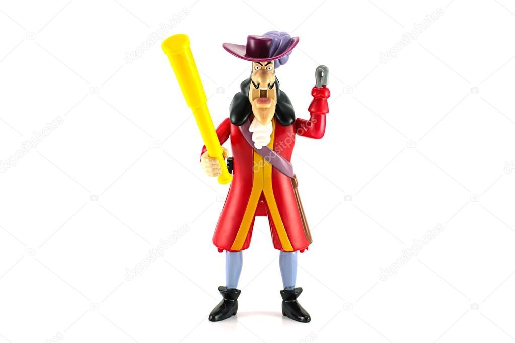 tripulação de piratas do capitão gancho fotografia de stock
