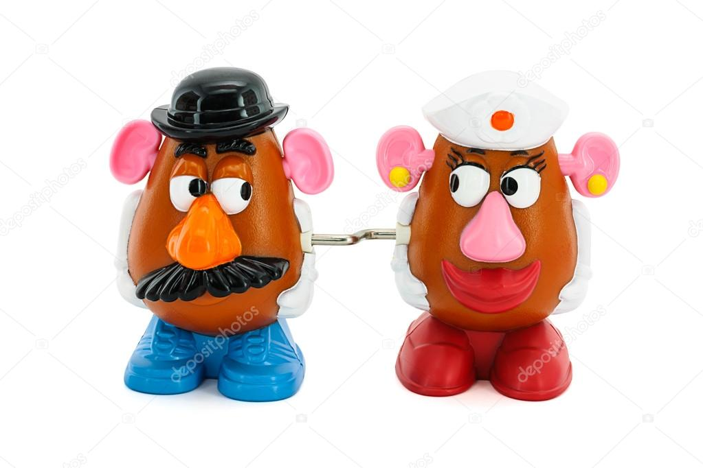 Mr And Mrs Potato Head Toy Character From Toy Story Movie Stock