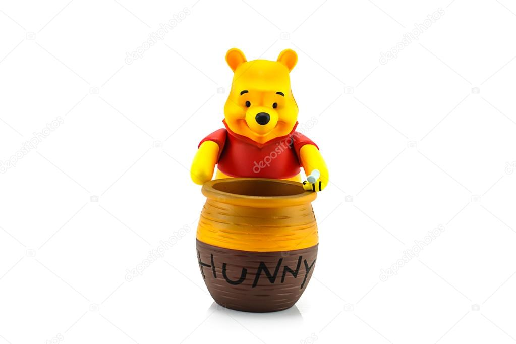 Personnage De Winnie L Ourson Et Le Pot De Miel Photo Editoriale