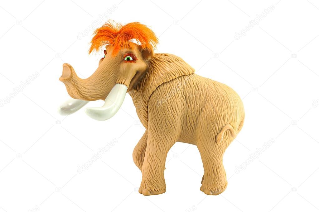 mammut giocattolo  Carattere di femmina giocattolo lanoso mammut Ellie — Foto ...