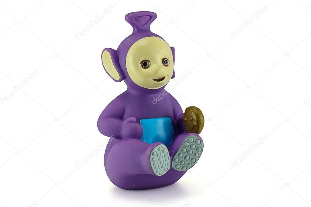 Tinky Winky the green alian Teletubby character.