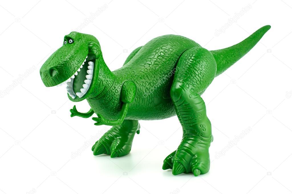 Rex o personagem de brinquedo dinossauro verde de fi de anima o toy story fotografia de - Dinosaure toy story ...