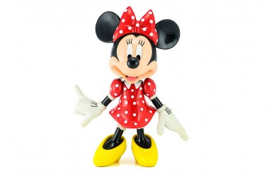 Minnie mouse from Disney character. This character from Mickey mouse and friends animation.