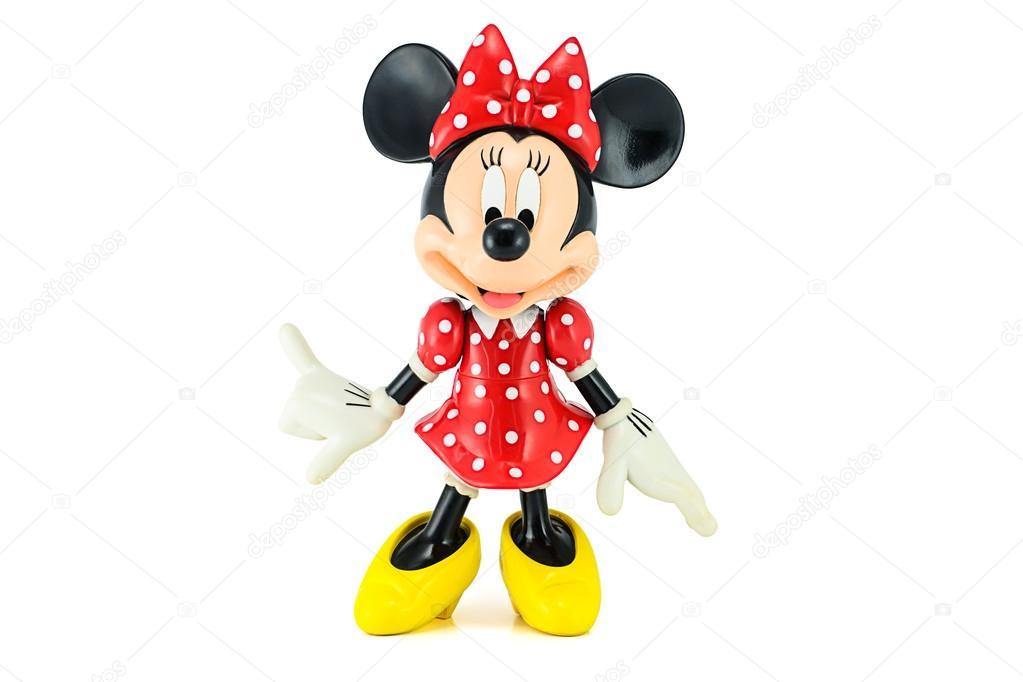 Minnie Maus von Disney-Figur. Dieses Zeichen von Mickey Mouse und ...
