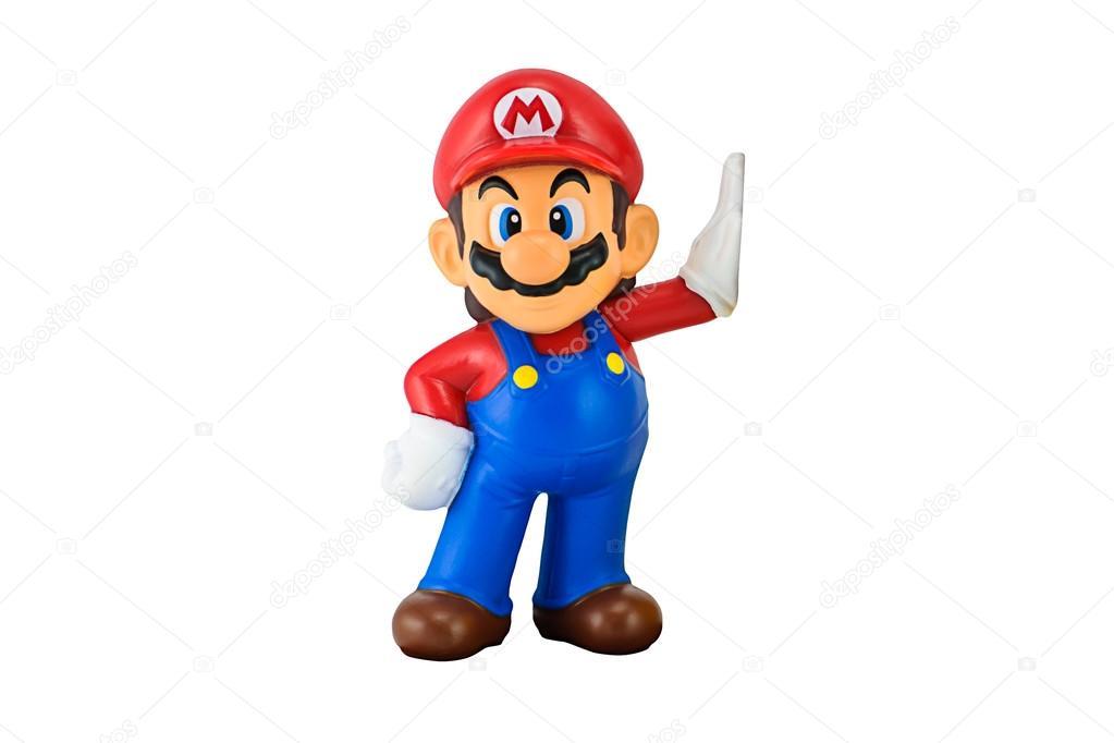 スーパーの mario キャラクターは白で隔離 ストック編集用写真