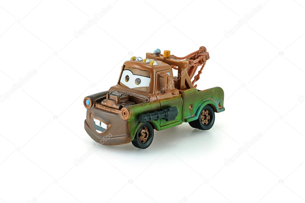 Tow Mater pick-up truck with machine gun