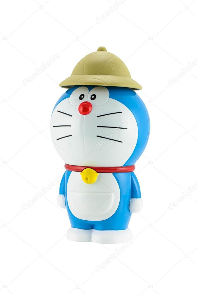 Fotografia doraemon doraemon un gatto robot blu con il cappello