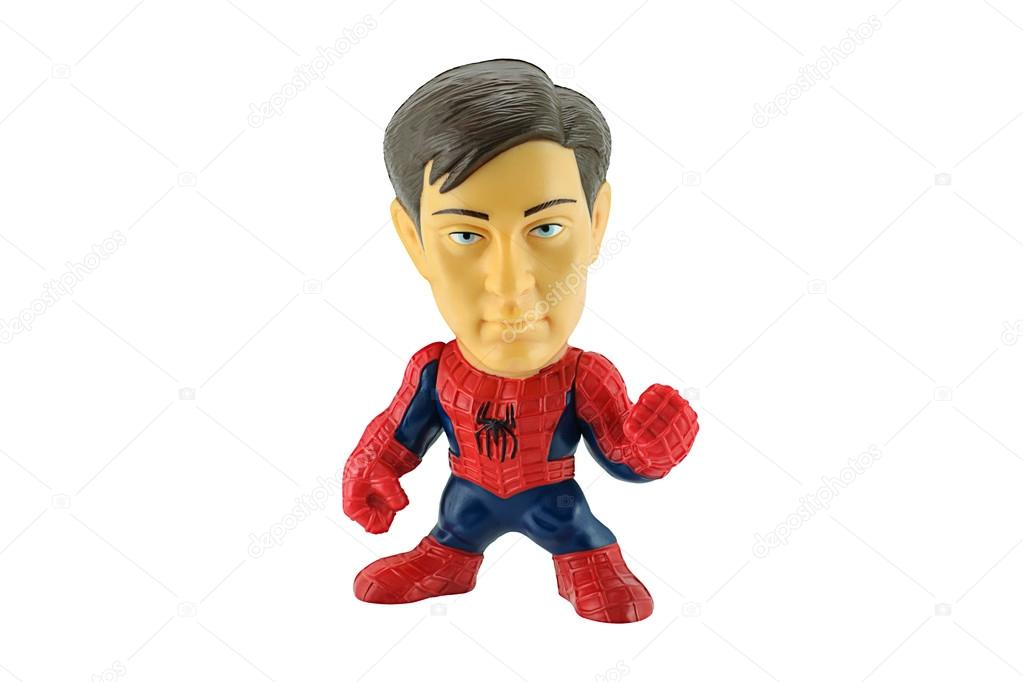 Spiderman removeable mask toy character form Spider Man 3 film.