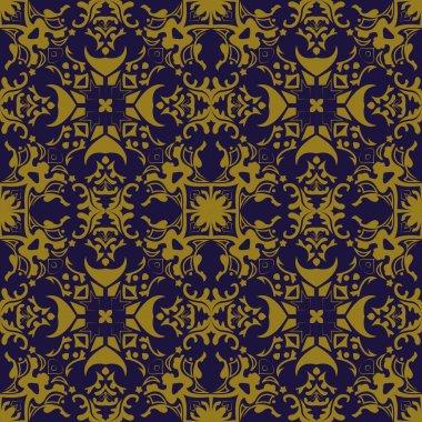 Elegant antique background image of geometry kaleidoscope pattern.