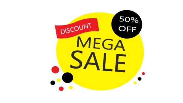 Mega Sale Banners, a legjobb ajánlat. Animáció
