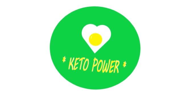 Ketogenní dieta logo symbol keto ikona razítko ilustrace, 3D animace
