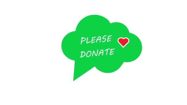 Danke, dass ihr Text für wohltätige Zwecke gespendet habt. Einfach elegant und einfach Botschaft für Ihre Charity-Fahrt. Internationaler Charity-Tag. Soziale Animation