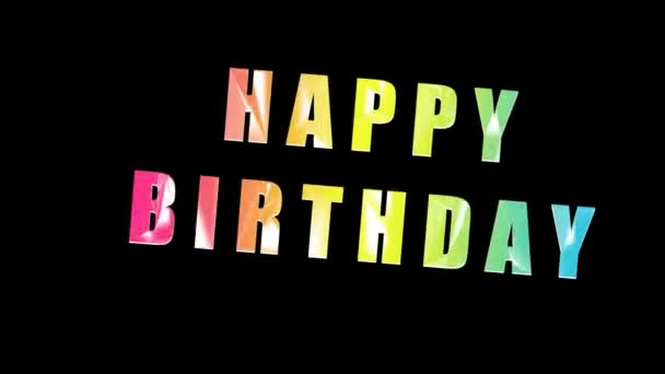 happy birthday animation. Celebration. Colored letters