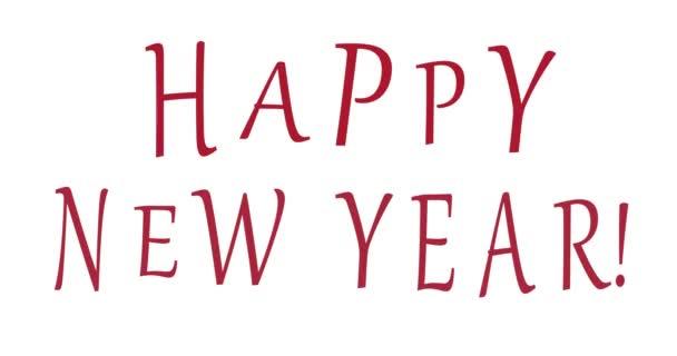 HAPPY Újévi vörös szöveg. Animáció