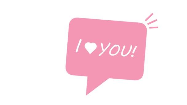 Imádom a szöveges szövegbuborékodat. fogalom a szerelem gyónás levelezés az interneten.