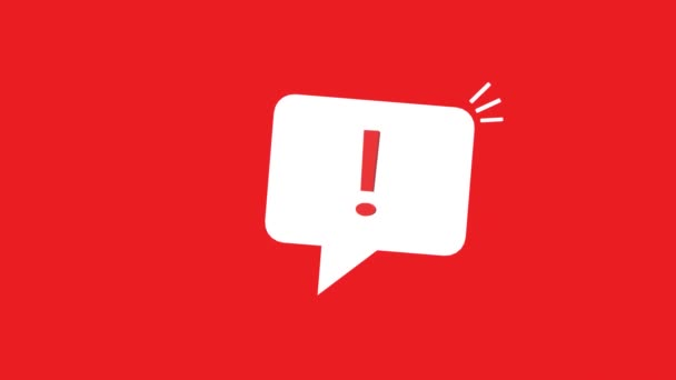important message like white speech bubble. concept of stop label and urgent information. cartoon trend modern sms inform logotype graphic mobile application simple design isolated on red background