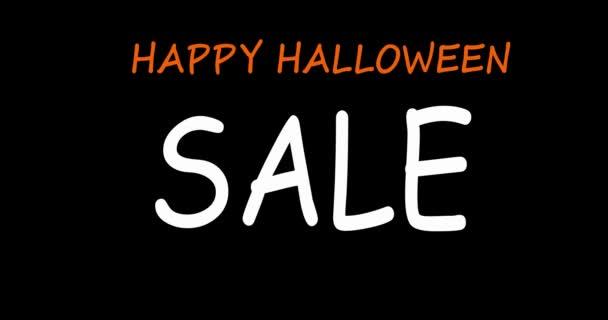 Halloween Eladó különleges ajánlat banner sablon kézzel rajzolt betűkkel nyaralás vásárlás. Csak korlátozott ideig.