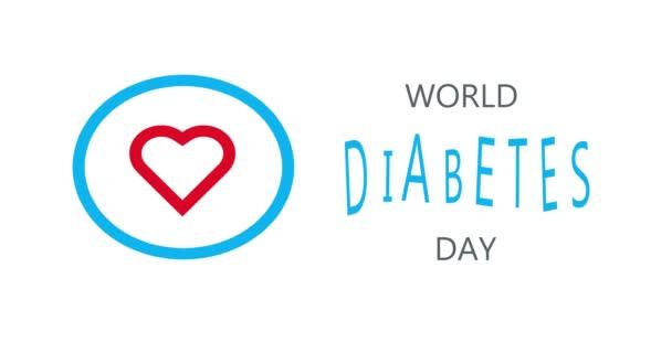 Cukorbetegség, orvosi animáció. Orvosi fogalom. Modern stílus logó november hónap figyelemfelkeltő kampányok.