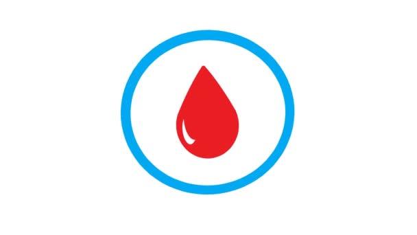 Cukorbetegség ikon a beszédbuborékban, logó. Kék kör piros vércseppel a közepén. Hagyd abba a cukorbetegséget. Orvosi illusztráció, lapos design elem. Fekete háttérrel elszigetelve. Cukorbetegség világnapja