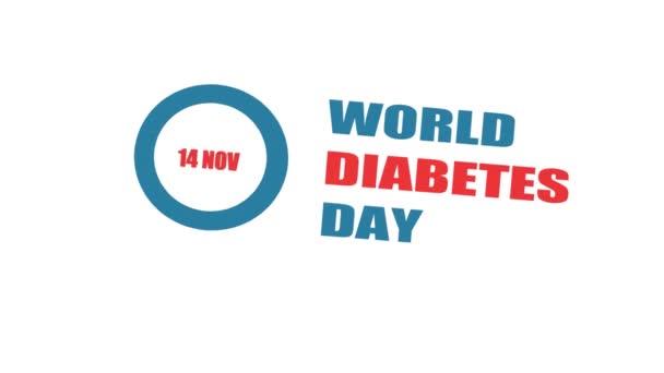STOP DIABETES. Univerzální symbol modrého kruhu pro cukrovku. Světový den diabetu
