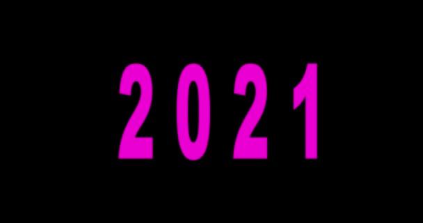2021 Šťastný nový rok neon