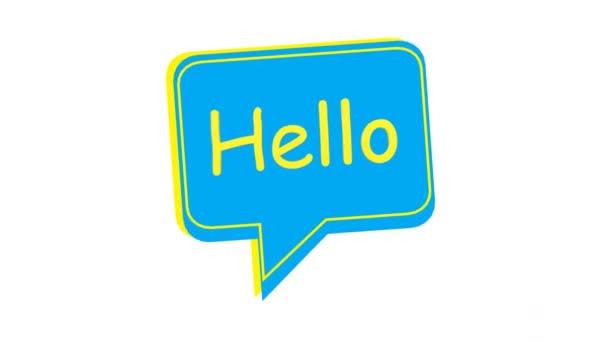 Helló szöveg buborékokban. a világ köszöntő napját minden évben november 21-én ünneplik. Fő célja, hogy felhívja a nagyközönség figyelmét a személyes kommunikáció fontosságára. Animáció