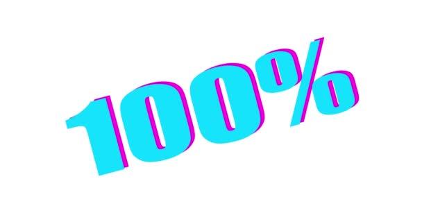100 Percent text. Burning Logo reveal on black background.