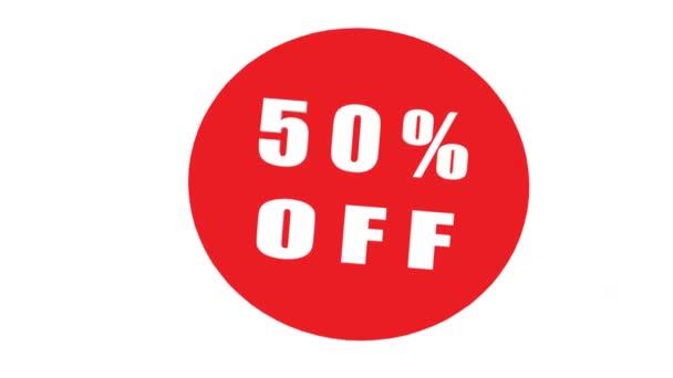 Verkauf 50% Rabatt Hintergrund, Rabatt Angebot Banner, Verkauf Saison, Mega-Verkauf. Animation