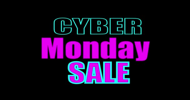 Cyber hétfő neon. Cyber hétfő eladó koncepció animáció