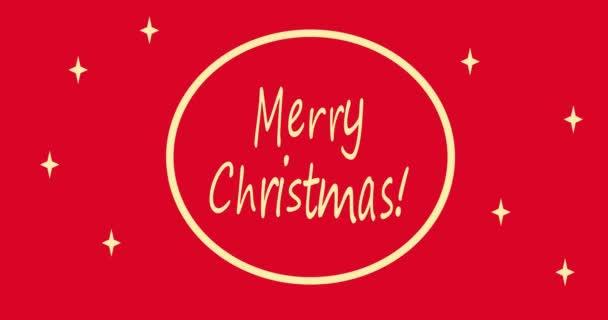 Boldog Karácsonyi feliratot. Boldog karácsonyt! Ünneplés. Üdvözlőlap. Animáció