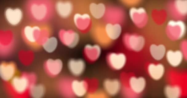 Na Valentýna. Láska téma pro svatby, Výročí a Valentýna festival na růžové lásce bezešvé smyčky pozadí s pozdravným textem.