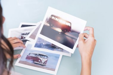 young woman choosing picture