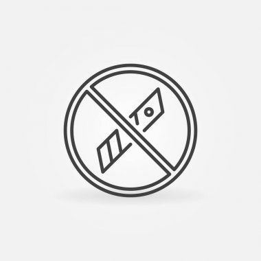Do not use Knife Blades outline vector packaging concept icon or design element icon