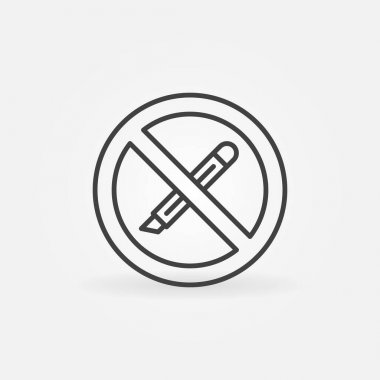 Do not use Boxcutter tool or Stationery Knife vector concept icon or sign in outline style icon