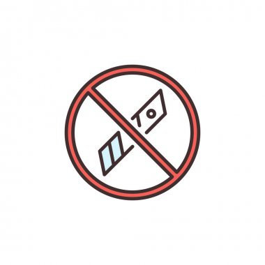 Knife Blades Forbidden vector packaging concept colored icon or symbol icon