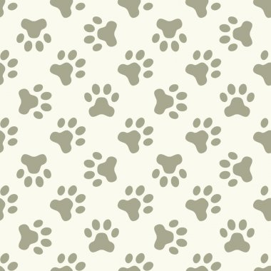 Cat or dog paw seamless pattern