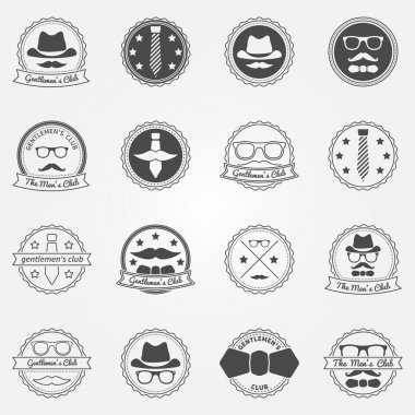 Gentlemens club vector emblems and logos