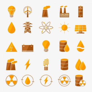Energy icon vector set